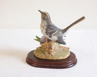 Vintage 1988 Andrea By Sadek Japan Mockingbird With Iris Figurine