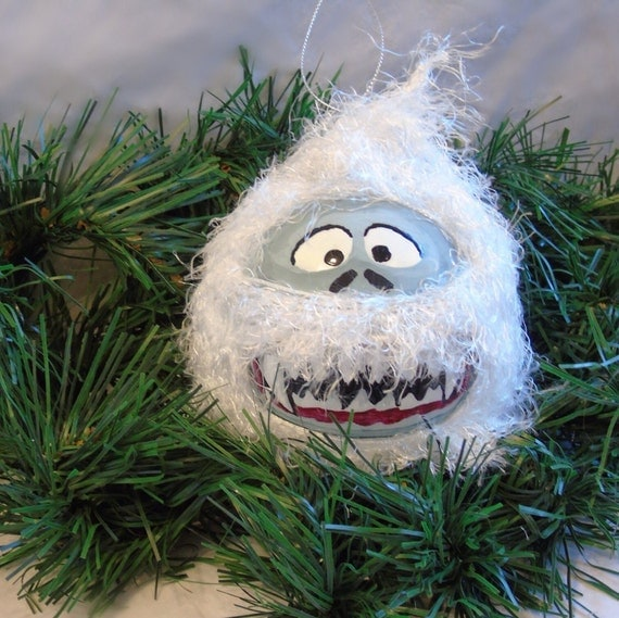 Reserved last one christmas ornament abominable snowman for Abominable snowman christmas decoration