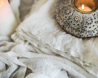 White Hand Loomed Cotton Napkins