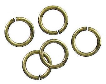 100pcs--Jumprings, Antique Brass, 10mm (B38-14)