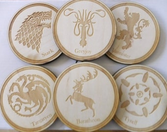 Game of Thrones House Coasters