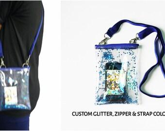 Glitter Bag,Star Bag,Clear Bag,See Through Bag,Transparent Bag,Iphone Bag,Crossbody Bag,Messenger Bag,Shoulder Bag,Satchel,Glitter Purse