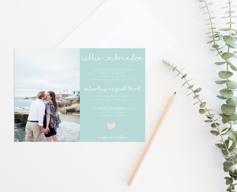 Amazing Printable Wedding Invitation Suites Ensign - All Wedding ...