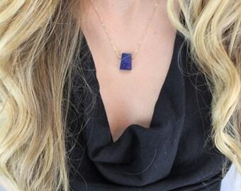 Lapis Gemstone, Layering Necklace, Everyday Necklace, Delicate Gemstone Necklace, Simple Necklace, Gemstone Necklace, Dainty and Delicate