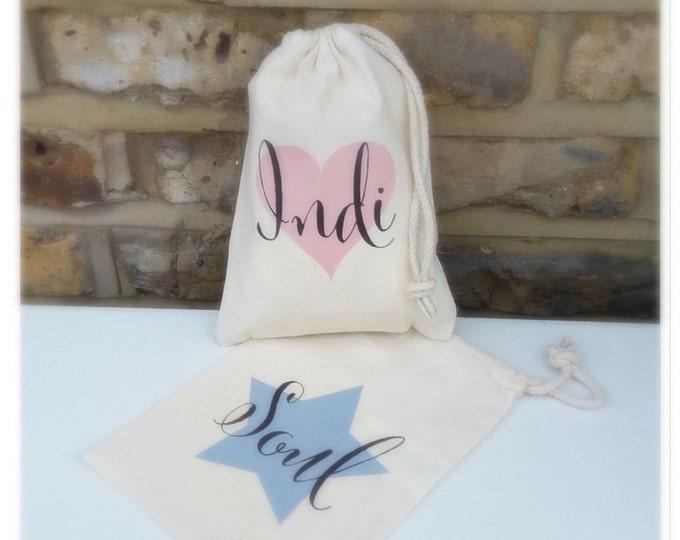 Personalised gift bag, any wording, pouches, thank you keepsake bag, Bridesmaid, flower girl, maid of honour, gift sacks, tote bag