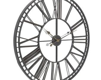Antique style Skeleton Mirror Wall Clock - 337919
