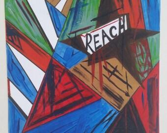 Art Print Christian painting street art contemporary modern mixed media art