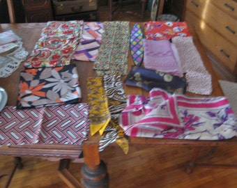 Vintage 1960's-70's scarves lot Vera and more very retro cool