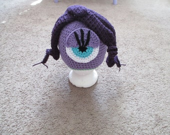 CELIA Monsters Inc. Crocheted Hat---Costume---Photo Prop---All sizes Available