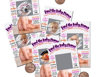 Baby Shower Games, Fun Baby Shower Games, Baby Shower Party Games, Scratch off Games, Unique Baby Shower Games, Funny Baby Shower Games