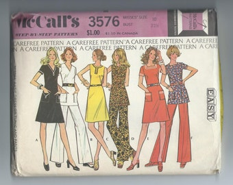 McCall's 3575  Basic Dress or Tunic and Pants