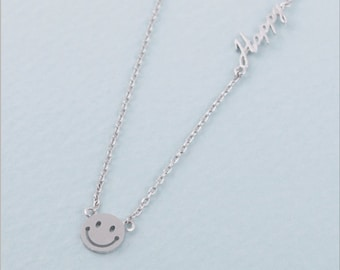 Smile Face Pendant Necklace