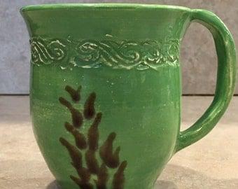 Hand thrown ceramic tea cup