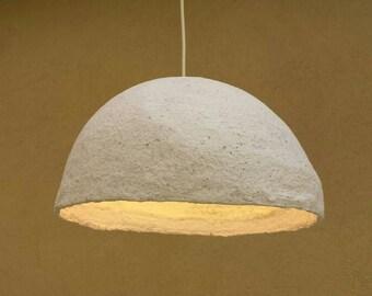 Paper mache pendant, Industrial lamp, Paper mache lamp, Papier mache light, Industrial light, Paper mache hanging lamp, Designer lighting,