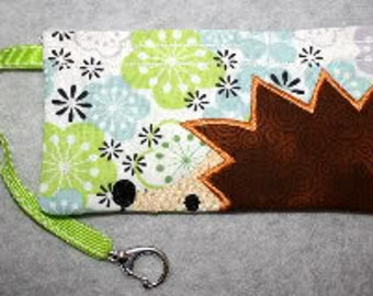 Sale Price!   Hedgehog Wristlet Embroidery Machine Design for the 5x7 hoop