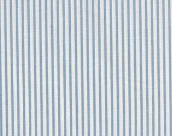light Blue Medium Stripe - Sevenberry fabric Fat Quarters 100% cotton quilting dressmaking UK Shop