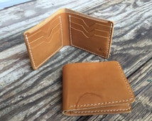 Leather Wallet, husband gift, dad gift, boyfriend gift, vegetable tanned leather Bifold,handmade