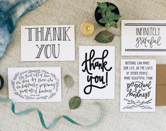 """Thank You 4""""x6"""" Greeting Card Set of 5"""