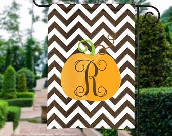 Monogram Pumpkin Flag, Fall Garden Flag, Monogram Garden Flag, It's Fall Y'all, Custom Flag, Monogram Yard Flag, Personalized House Flag