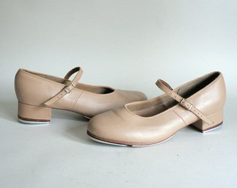 Tan Tap Dance Shoes Size 10.5 or 11