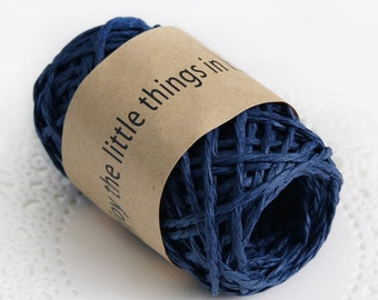 11 yd x Paper string / Navy Blue / twist string / paper cord ribbon / paper twine / gift wrap