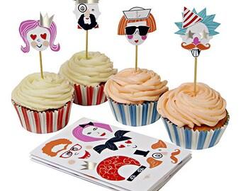 Meri Meri Funny Faces Cupcake Kit