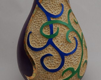 carved gourds, gourd art , gourds, decorative gourds, painted gourds, carved gourd art, gourd vase, gourd home decor, stipple carved gourd