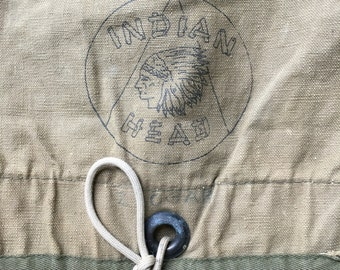 "Early ""Indian Head"" messenger / field Bag in good condition (no shoulder strap)"
