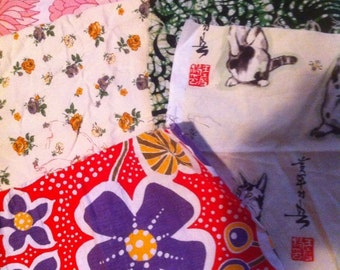 Vintage Remnants Bundle Patchwork Quilting Small Projects