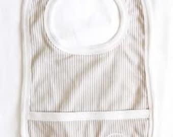 Gray w/ white vertical stripe