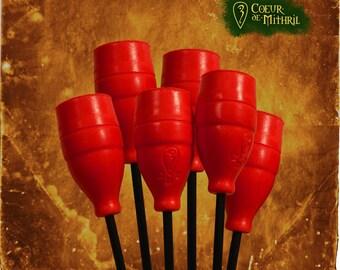 Larp arrows x6 red