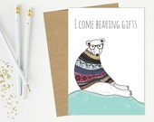 Bear Greeting Card - Birt...