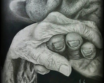 One of a kind pencil drawing. 11x14amazing quality print