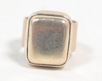Vintage 925 Sterling Silver Rectangular Statement Ring