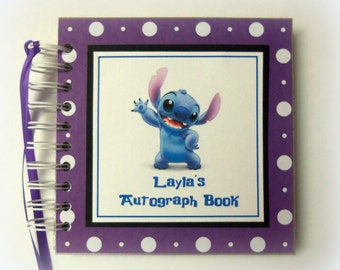 PERSONALIZED Pick your color Disney Stitch Inspired Autograph Book Scrapbook Travel Journal Vacation Photo Album