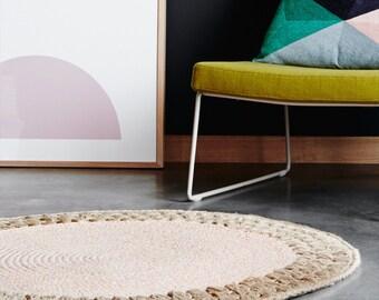 120cm Crochet Rug - Blush