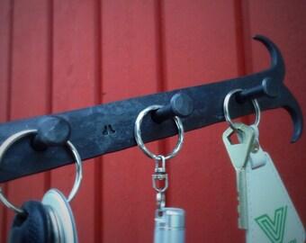 Key rack, hand forged