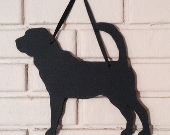 Bloodhound Handmade Chalkboard  Wall Hanging Blackboard- Chalkboard Silhouette - Shadow - Country Decoration - Dog