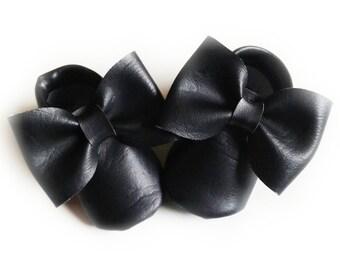 black moccasins