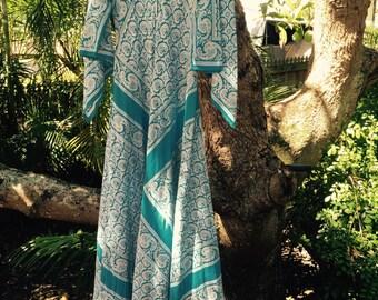 Vintage 70s indian maxi cotton dress