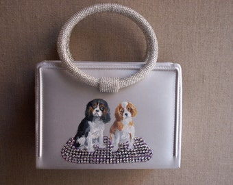 Handbag, Hand painted, Dog Portraits, One of a Kind