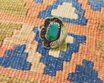 vintage southwestern turquoise ring