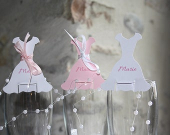 Lot of 10 brand places in the form of dress custom for baptism, communion, birthday