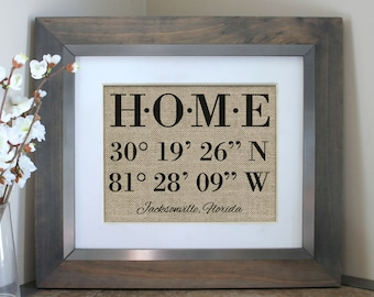 Housewarming Gift, New Home Housewarming Gift, Our First Home, House Warming Gift, Latitude Longitude Sign, Address Sign, GPS Coordinates
