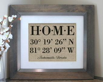 Housewarming Gift, New Home Housewarming Gift, Our First Home, House Warming Gift, Latitude Longitude Sign Address Sign, Valentines Day Gift