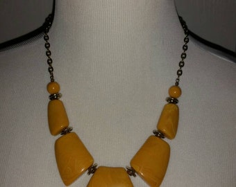 Mustard Yellow Handmade Necklace