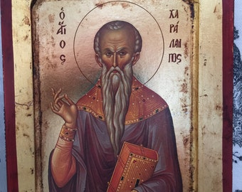 St. Charalampus Holy Icon of the Byzantine age