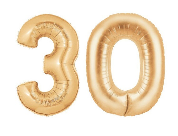 30 balloon 40 quot gold number balloons copper rose numbers 30th