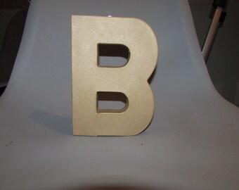 8 inch Paper Mache Letter