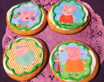 12 Peppa Pig sugar cookies